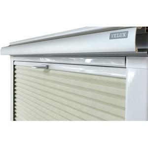 Home-Vision® Dachfenster Premium Doppelplissee Wabenplissee ohne Bohren Velux-kompatibel (Weiß-Creme für M08 / M38 - Weiß) Zweifarbig Blickdicht Sonnenschutz, Alle Montage-Teile inklusive
