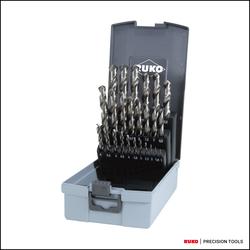 RUKO Spiralbohrersatz DIN 338 Typ N HSS G in Kunststoffkassette (ABS) linksschneidend