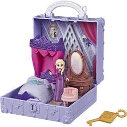 Hasbro Puppenhaus Die Eiskönigin II, Pop-Up Abenteuer Elsas Zimmer Spielset, mit Griff, inklusive Elsa Puppe