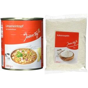 Jeden Tag Linsentopf, 800 g & Kokosraspeln, 200g