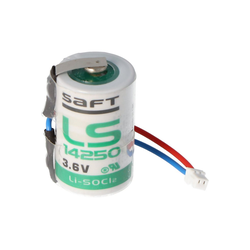 AccuCell Saft Lithium 3,6V Batterie LS14250 mit Kabel und S Batterie