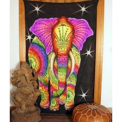 Wandteppich Goa Wandtuch, UV Schwarzlicht Wandbehang,.., Guru-Shop, Höhe 180 mm 110 cm x 180 cm x 180 mm