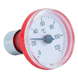 Thermometer mit Steckvorrichtung - Skala rot