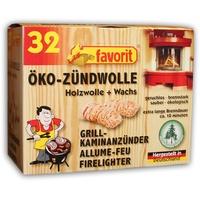 Favorit 1228 Öko-Zündwolle Anzünder 32 Stück