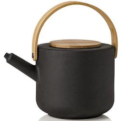 Stelton Teekanne Theo, 1,25 l, Steinzeug mit Bambus-Deckel