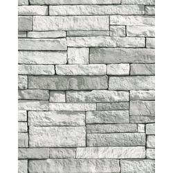 WOW Vliestapete Steine, Steinoptik, (1 St), Grau - 10m x 52cm