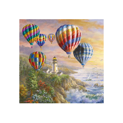 Ambiente Papierserviette Heißluftballons, (5 St), 33 cm x 33 cm