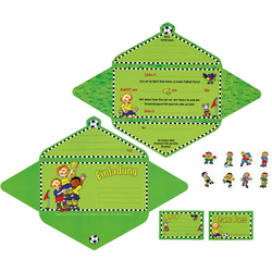 Einladungskarten, grün - grün