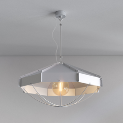 Retro Industrielampe RAFI ø 60 cm Silbern