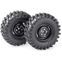 Absima Kompletträder Offroad V Block Crawler schwarz 2er Pack (2500030)