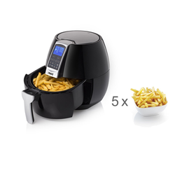 PRINCESS Heissluftfritteuse, 1500 W, Heißluftfritteuse Umluft Crispy Fryer, Fritöse mit Timer, Pommes fettarm frittieren ohne Öl, 3,2 Ltr. 1500 Watt