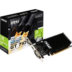MSI Grafikkarte Nvidia GeForce GT710 1GB DDR3-RAM PCIe x16 HDMI®, DVI, VGA
