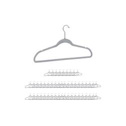 relaxdays Kleiderbügel Kleiderbügel Set Samt grau