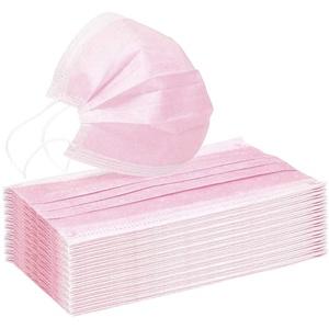 Erwachsene Mund und Nasenschutz Bedeckung Einmal-Mundschutz Rosa Mundbedeckung 3-lagig Atmungsaktiv Multifunktionstuch Halstuch Staubs-chutz (60pc, Rosa)