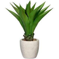 Künstliche Zimmerpflanze Agave Agave, Creativ green, Höhe 75 cm, im Zementtopf