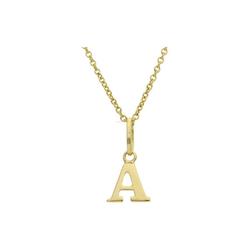 JuwelmaLux Buchstabenanhänger Anhänger Gold Buchstabe A Kettenanhänger (1-tlg), Anhänger ohne Kette Gold 333/000, inkl. Schmuckschachtel