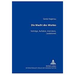 Die Macht des Wortes. Gerda Hagenau  - Buch