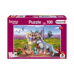 Schmidt Spiele Puzzle Land der Elfen und Drachen, 100 Teile, Puzzleteile