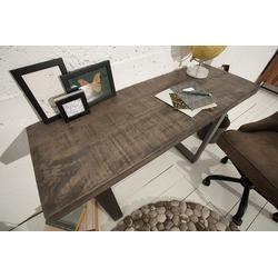 riess-ambiente Konsolentisch IRON CRAFT 115cm grau, Massivholz · Konsole · Schreibtisch · Mango