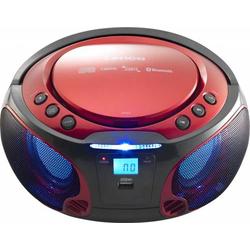 4 Stück Lenco UKW-Radio CD/MP3 tragbar SCD-550 red