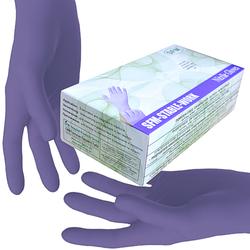 SFM ® STABLE WORK : XS Nitrilhandschuhe puderfrei fingertexturiert ACC-frei blau (100)