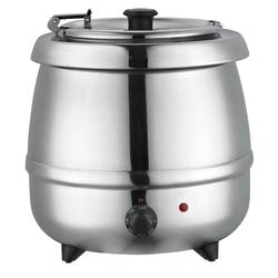 Suppenkessel Edelstahl, Ø370x380x380 mm, 9,65 L, 400 W