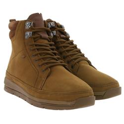 Boxfresh Boxfresh Loadha Uh Lea Schnür-Stiefel moderne Herren Echtleder Boots Schuhe Hellbraun Stiefel
