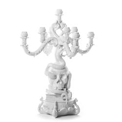 SELETTI Riesiger burlesque Kerzenhalter - Schädel
