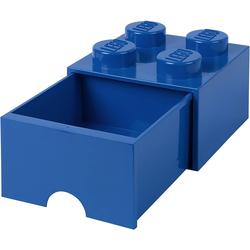 Room Copenhagen Aufbewahrungsbox Lego - Aufbewahrungsbox im Legostein Design mit einer Schublade - blau
