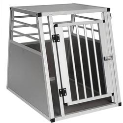 EUGAD Tiertransportbox 0060HT, Hundebox Autobox Hundetransportbox Alubox Grau