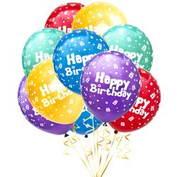 Luftballon Set Happy Birthday für Kinder Geburtstag Party 10 Deko Ballons Geburtstagsdeko bunt