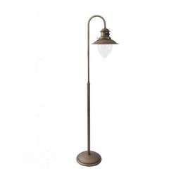 Licht-Erlebnisse Stehlampe AL MARE Stehleuchte aus Messing E27 H:130cm Maritimes Design bronziert Premium