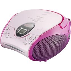 Lenco SCD-24 mit CD stereo UKW-Radio rosa