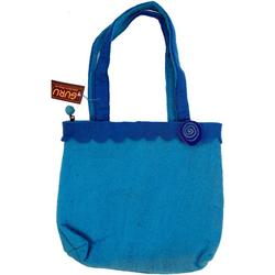 Guru-Shop Handtasche Boho Filztasche - blau blau