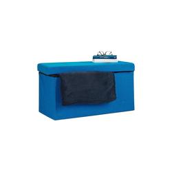 relaxdays Sitzbank Faltbare Sitzbank Leinen blau