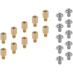 Poppstar SSD, PC Schrauben Set (f. M.2 SSD / NVMe Montage Motherboard-Mainboard) goldfarben