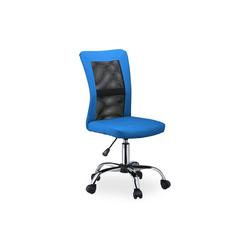 relaxdays Drehstuhl Bürostuhl Drehstuhl blau