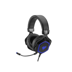 AULA Aula USB Gaming Headset Hex LED Beleuchtung Over Ear Headset PC Gaming Laptop Notebook Mikrofon Gamer Kopfhörer Gaming-Headset