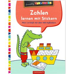 Zahlen lernen mit Stickern als Buch von