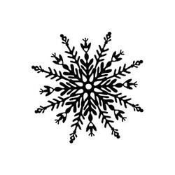 Rayher groß Motivstempel Schneeflocke