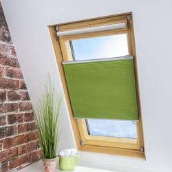 LIEDECO Universal-Dachfenster-Wabenplissee, Verdunklung, Farbe grün