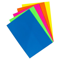 """Folia Moosgummi """"Neon"""", 20 x 29 cm, 5 Blatt"""