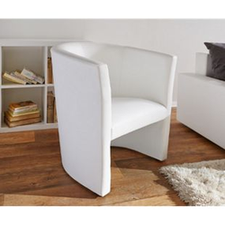 Sessel Goya Weiss Cocktailsessel Lounge Möbel