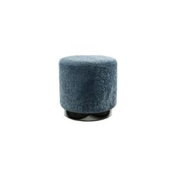 Kayoom Hocker Gipsy 425 in blau-schwarz