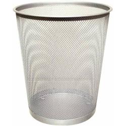Papierkorb Metall 19 Liter silber
