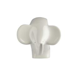 Deko Figur  Elefant ¦ weiß ¦ Keramik