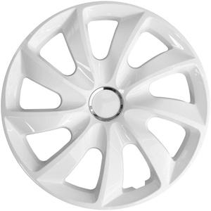 4x Radblenden weiß 17′′ STIG NRM Radkappen, 4er Set weiße Radzierblenden 17 Zoll