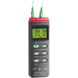 4-Kanal Temperatur-Messgerät inkl. 2x Thermodraht Typ-K. Temperaturbereich - 200°... + 1370°C