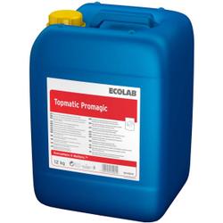 ECOLAB Topmatic Promagic Spülmittel, Geschirrspülmittel zum Schutz von Aluminium, 12 kg - Kanister