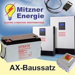 400Wp-PV Solaranlage / 1,2KWh 24V Batteriespeicher / Hybrid Set1-2